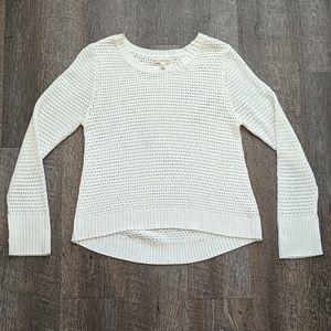 Open Knit Billabong Sweater High Low Open